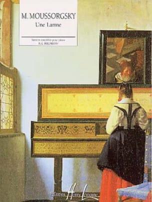 Une Larme - MOUSSORGSKI - Partition - Piano - laflutedepan.com