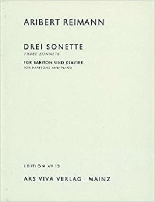 3 Sonnets from Shakespeare - Aribert Reimann - laflutedepan.com