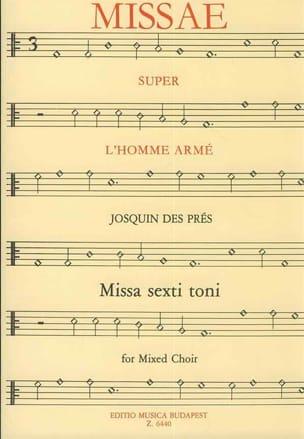 Messe Super L'homme Armé Josquin Després Partition laflutedepan