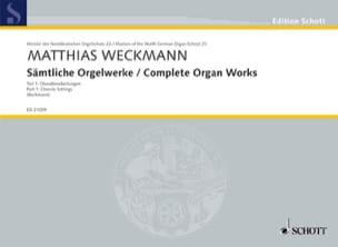 Sämtliche Orgelwerke Volume 1 Matthias Weckmann Partition laflutedepan