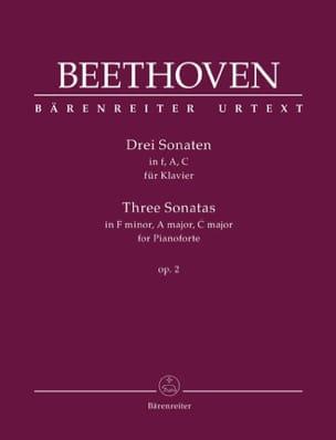 3 Sonates Pour Piano Opus 2 - BEETHOVEN - Partition - laflutedepan.com