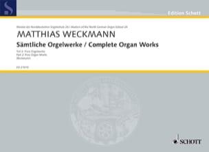 Sämtliche Orgelwerke Volume 2 Matthias Weckmann Partition laflutedepan
