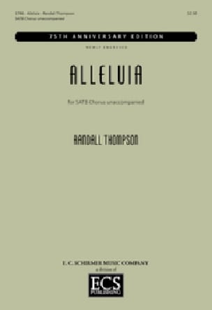 Alleluia - Randall Thompson - Partition - Chœur - laflutedepan.com