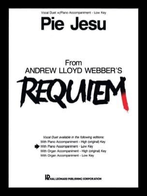Pie Jesu. Voix graves Webber Andrew Llyod Partition laflutedepan