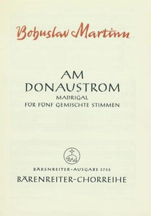 Am Donaustrom MARTINU Partition Chœur - laflutedepan