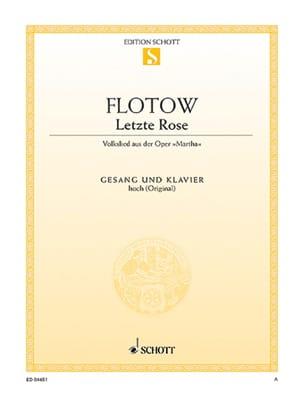 Letzte Rose. Martha Friedrich von Flotow Partition laflutedepan