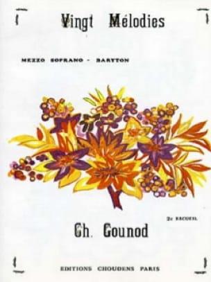20 Mélodies Volume 2. Voix Moyenne - GOUNOD - laflutedepan.com