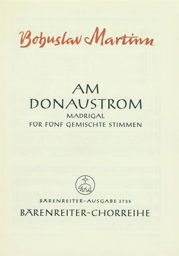 Am Donaustrom - MARTINU - Partition - Chœur - laflutedepan.com