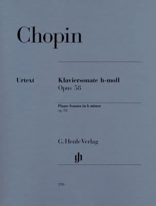Sonate pour piano en si mineur op. 58 CHOPIN Partition laflutedepan