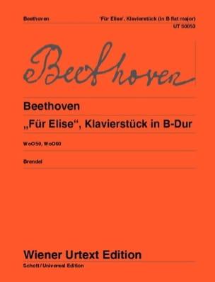 Für Elise Woo 59 / Klavierstück Woo 60 BEETHOVEN laflutedepan