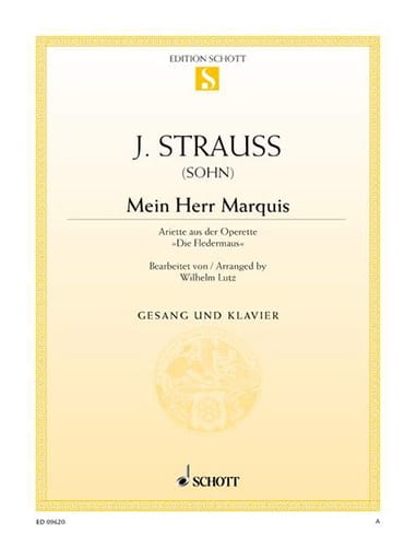 Mein Herr Marquis. Fledermaus - Johann fils Strauss - laflutedepan.com