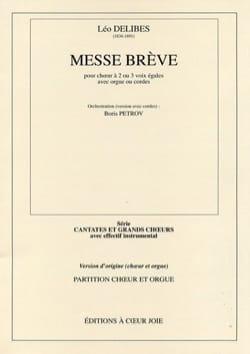 Messe Brève. Conducteur DELIBES Partition Chœur - laflutedepan