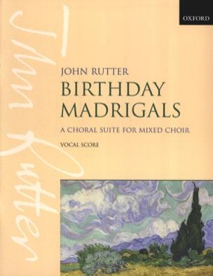 Birthday Madrigal RUTTER Partition Chœur - laflutedepan