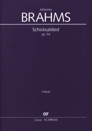 BRAHMS - Schicksalslied Opus 54 - Partition - di-arezzo.co.uk