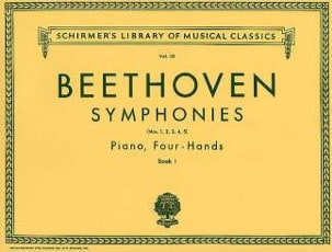 BEETHOVEN - Symphonies 1 to 5. Volume 1. 4 Hands - Partition - di-arezzo.co.uk