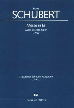 SCHUBERT - Masa en mi bemol mayor - D 950 - Partition - di-arezzo.es