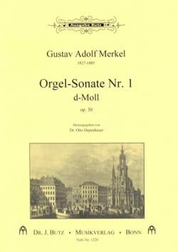 Sonate Nr. 1 D-Moll Op. 30 Gustav Merkel Partition laflutedepan