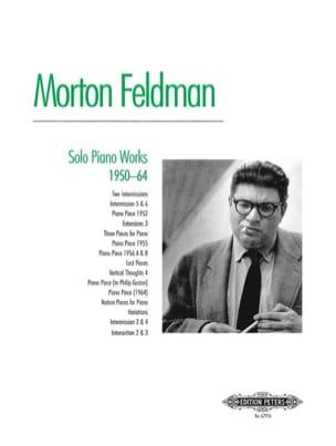 Solo Piano Works 1950-1964 Morton Feldman Partition laflutedepan