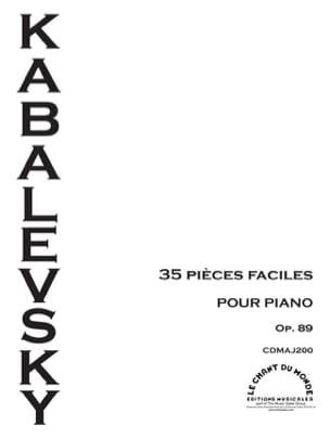 35 Pièces Faciles Opus 89 KABALEVSKY Partition Piano - laflutedepan