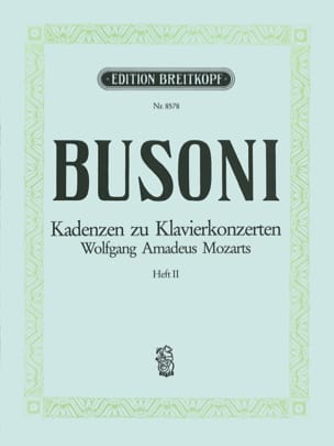 Mozart Klavier-Konzert Kadenzen, Bd. 2 BUSONI Partition laflutedepan