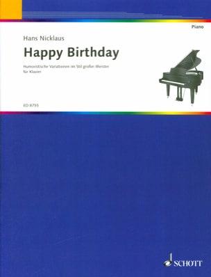 Happy Birthday - Hans Nicklaus - Partition - Piano - laflutedepan.com