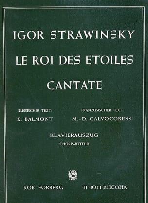 Le Roi des Etoiles - STRAVINSKY - Partition - Chœur - laflutedepan.com