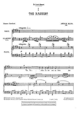 2 Nursery Rhymes. Arthur Bliss Partition Clarinette - laflutedepan