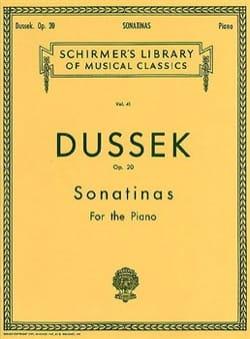 Sonatines Op. 20 Jan Ladislav Dussek Partition Piano - laflutedepan