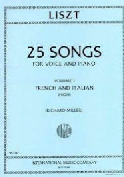 25 Songs Volume 1. Voix Haute LISZT Partition Mélodies - laflutedepan