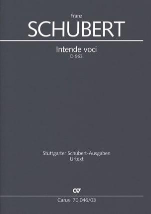 Intende Voci D 963 - SCHUBERT - Partition - Chœur - laflutedepan.com