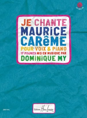 Je chante Maurice Carême Dominique My Partition Chœur - laflutedepan