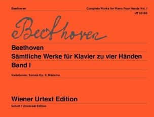 BEETHOVEN - Piano Works 4 Hands Volume 1 - Partition - di-arezzo.co.uk