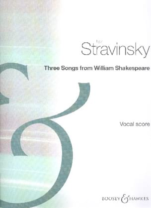 3 Songs From Shakespeare STRAVINSKY Partition Mélodies - laflutedepan