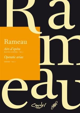 Airs d'opéra. Haute-contre. Volume 1 RAMEAU Partition laflutedepan
