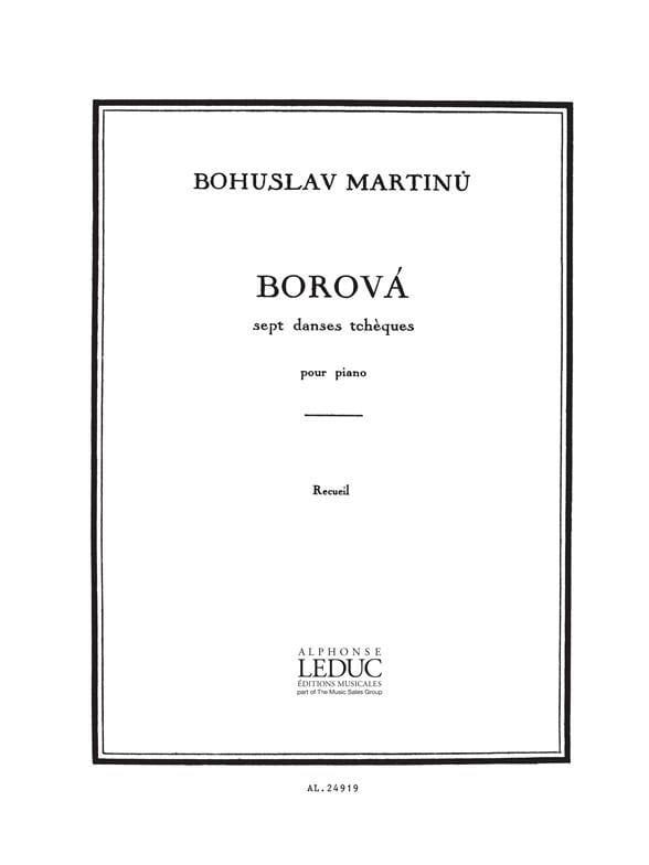 Borova - MARTINU - Partition - Piano - laflutedepan.com