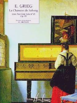 Chanson De Solveig GRIEG Partition Piano - laflutedepan