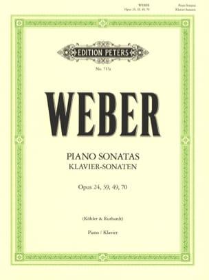 Sonates pour piano Carl Maria von Weber Partition Piano - laflutedepan