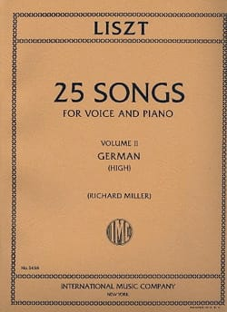 25 Songs Volume 2. Voix Haute LISZT Partition Mélodies - laflutedepan
