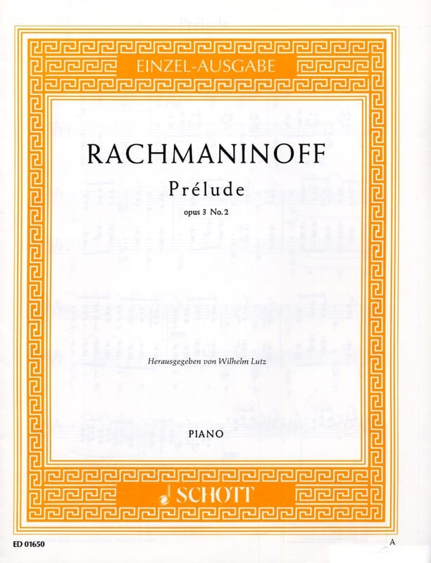 Prélude Ut dièse Mineur Opus 3-2 - RACHMANINOV - laflutedepan.com