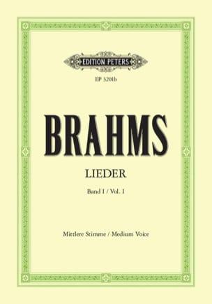 Lieder Volume 1. Voix Moyenne BRAHMS Partition Mélodies - laflutedepan