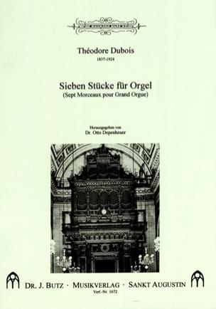 7 Stücke Für Orgel Théodore Dubois Partition Orgue - laflutedepan