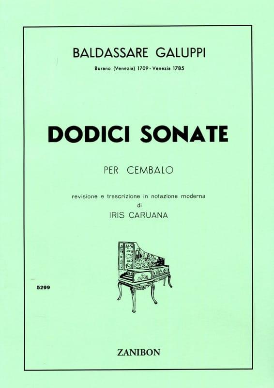 12 Sonates - Baldassare Galuppi - Partition - laflutedepan.com
