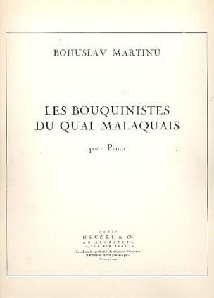 Les Bouquinistes Du Quai Malaquais MARTINU Partition laflutedepan