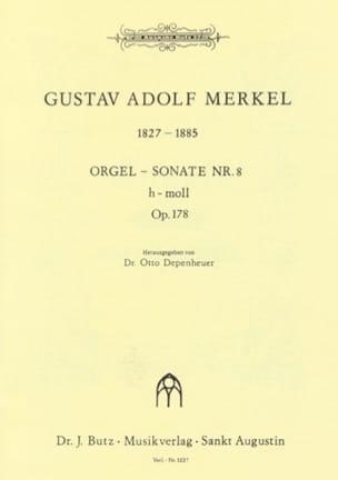 Sonate Nr. 8 si mineur Op. 178 Gustav Merkel Partition laflutedepan