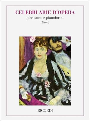 Celebri Arie d'opera. Basse Partition Recueils - laflutedepan