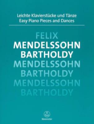 Easy Piano Pieces and Dances MENDELSSOHN Partition laflutedepan