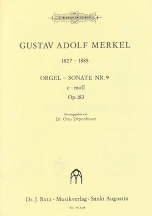 Sonate n°9 en do mineur Op. 183 Gustav Merkel Partition laflutedepan