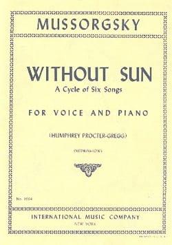 Without Sun. Voix Médium-Grave MOUSSORGSKI Partition laflutedepan