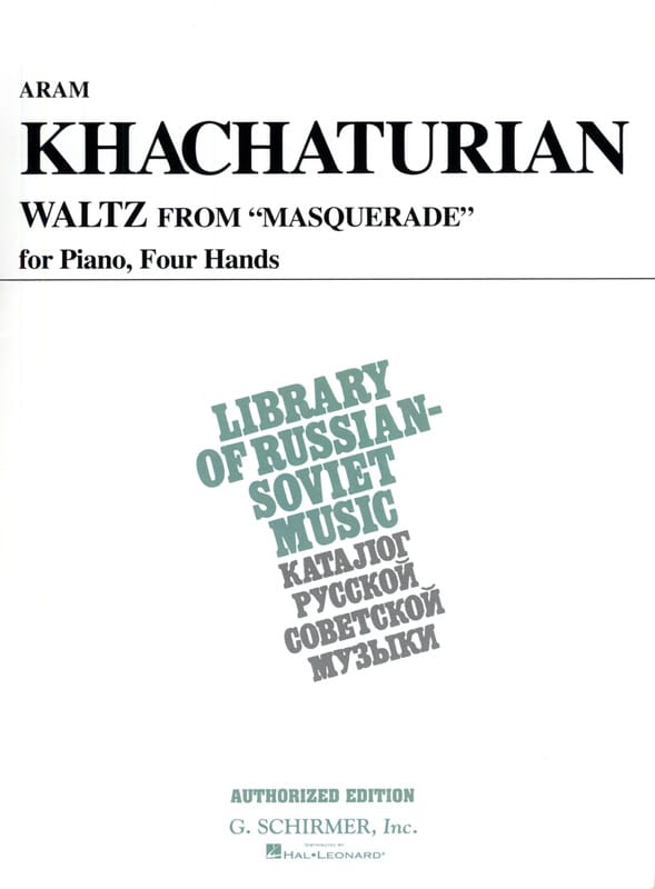 Valse. 4 mains - KHATCHATURIAN - Partition - Piano - laflutedepan.com