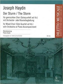 Der Sturm Hob 24a-8 HAYDN Partition Chœur - laflutedepan